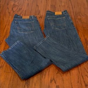Lucky Brand 2 pair denim jeans size 36 W x 34 L